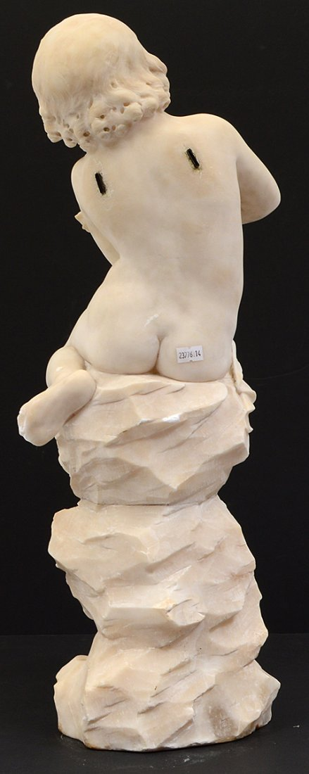 MARBLE SCULPTURE OF A CHILD - 7