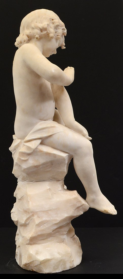 MARBLE SCULPTURE OF A CHILD - 9