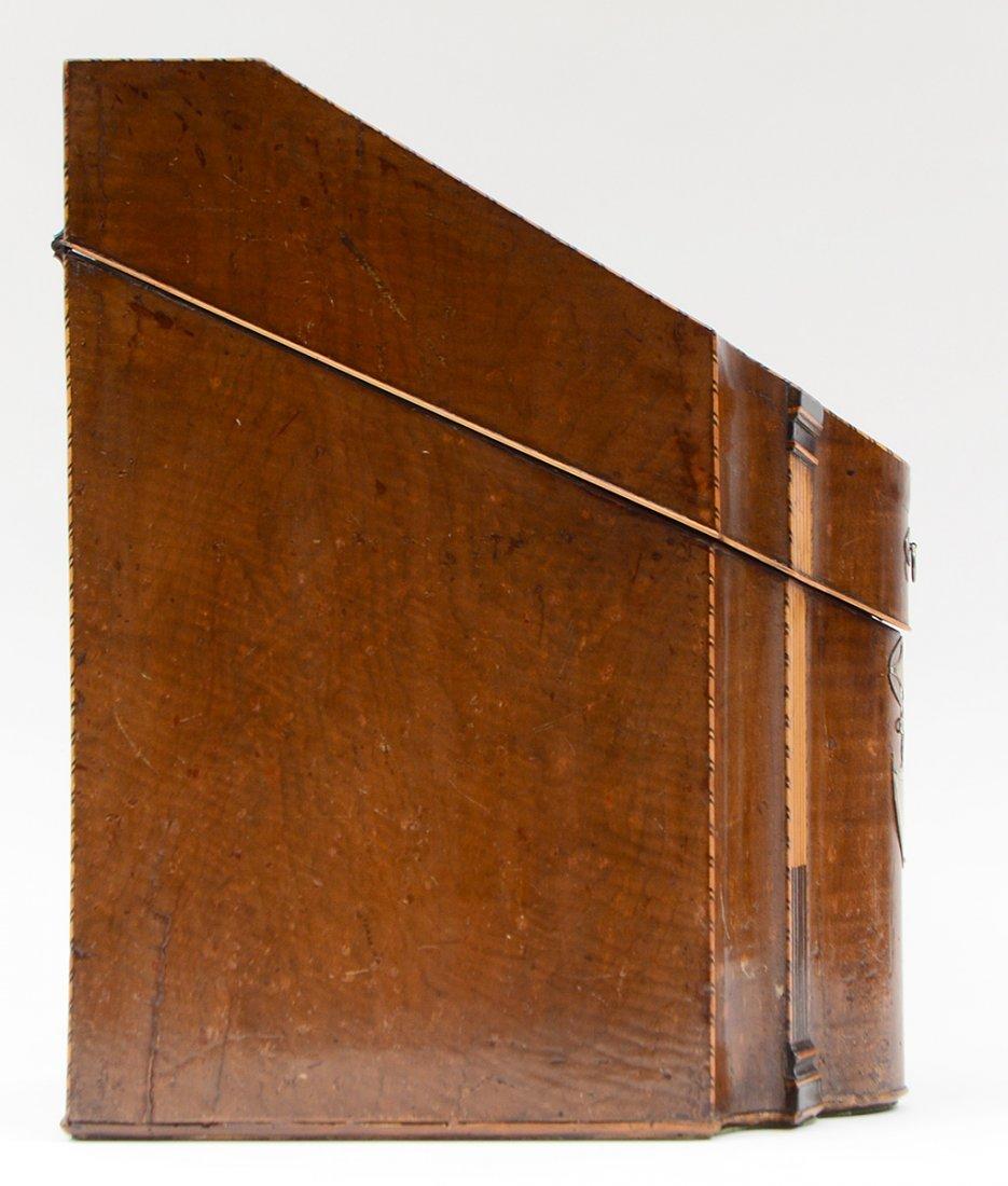 GEORGE III NAUTILUS INLAID MAHOGANY KNIFE BOX - 6