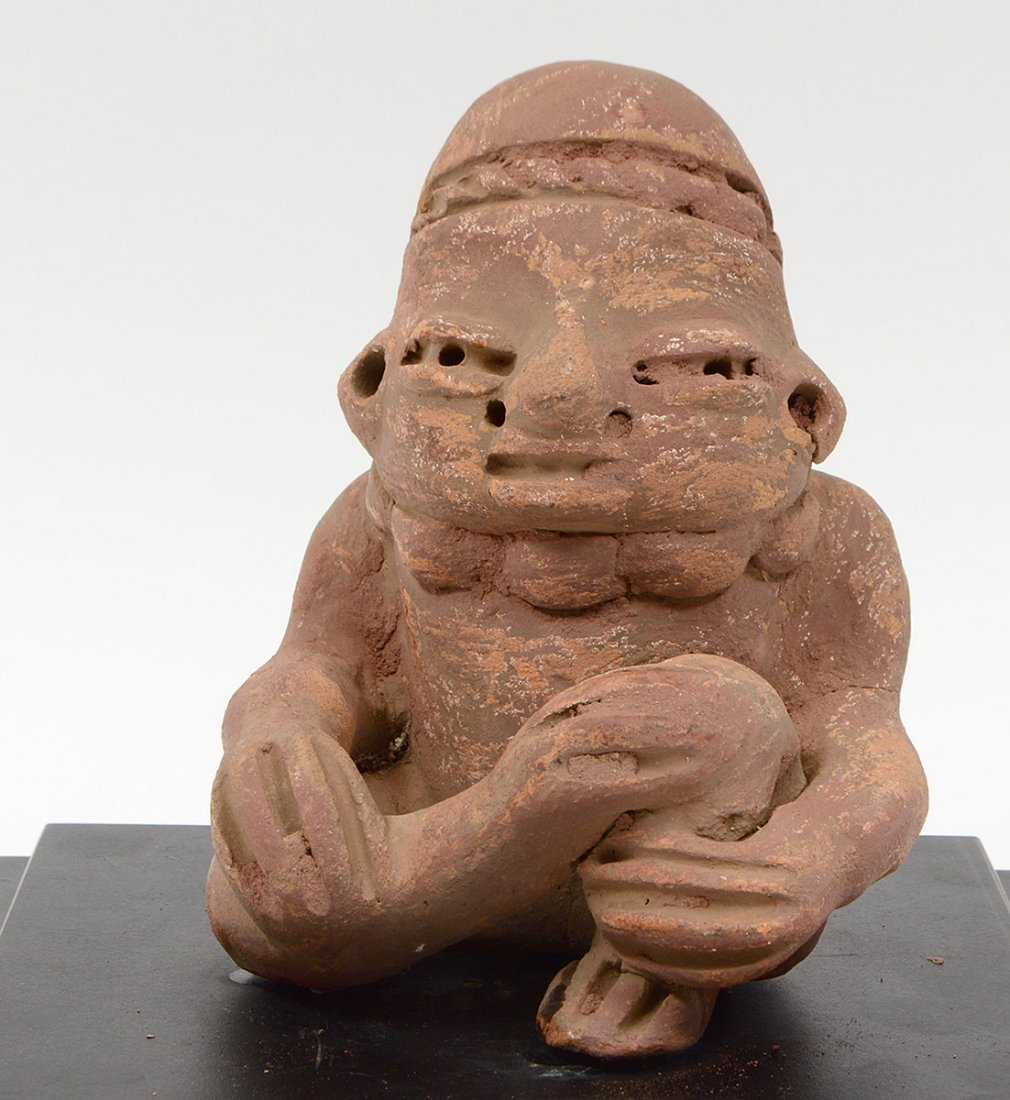 PRE-COLOMBIAN JALISCO NAYARIT SEATED POTTERY...... - 2