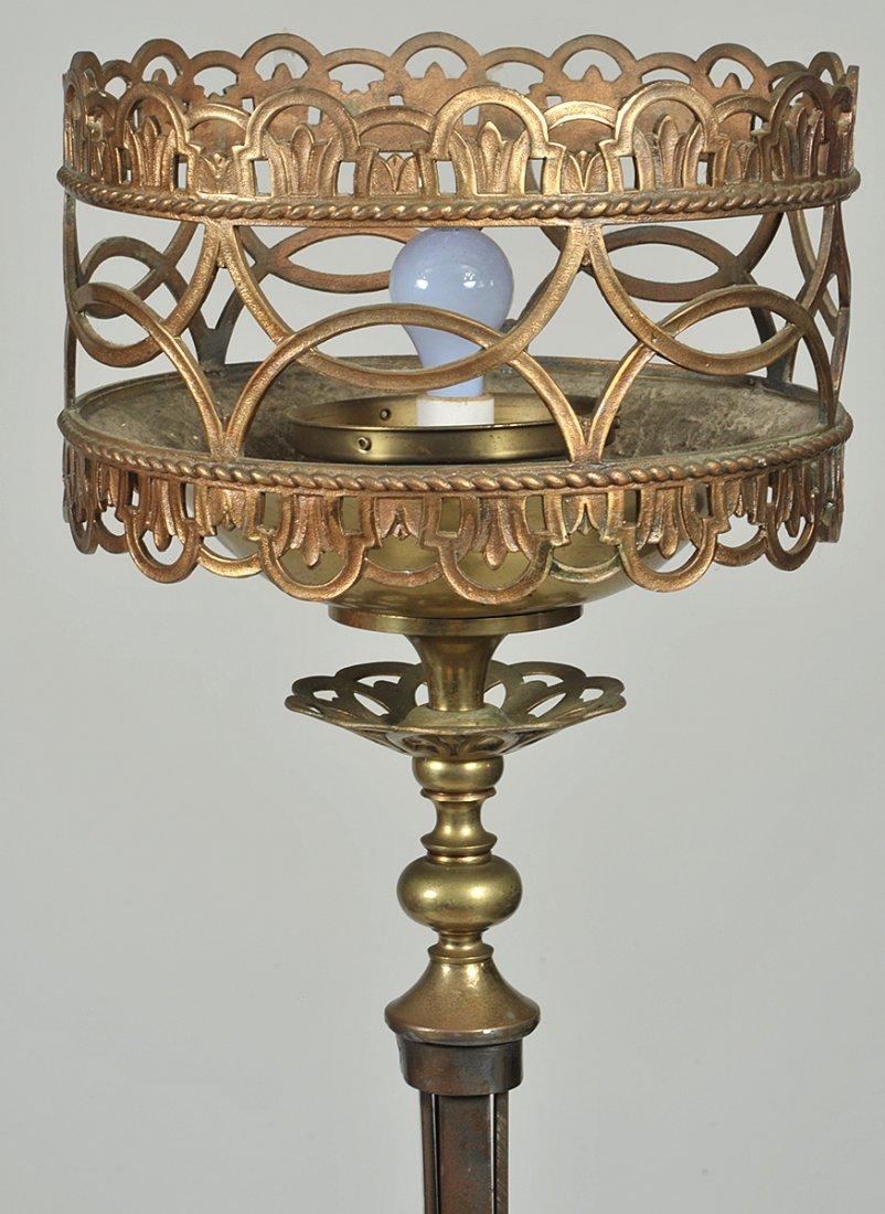 PAIR OF RENAISSANCE STYLE BRASS FLOOR LAMPS - 2