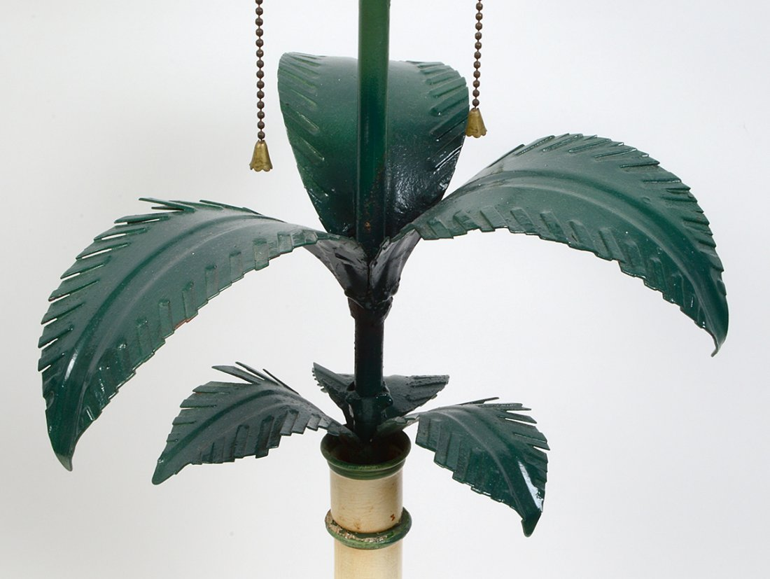 PAIR OF TOLE PAINTED CONTEMPORARY LAMPS - 3