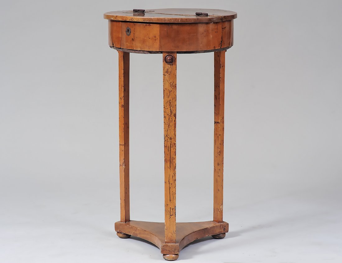PROVINCIAL HINGED TOP SIDE TABLE