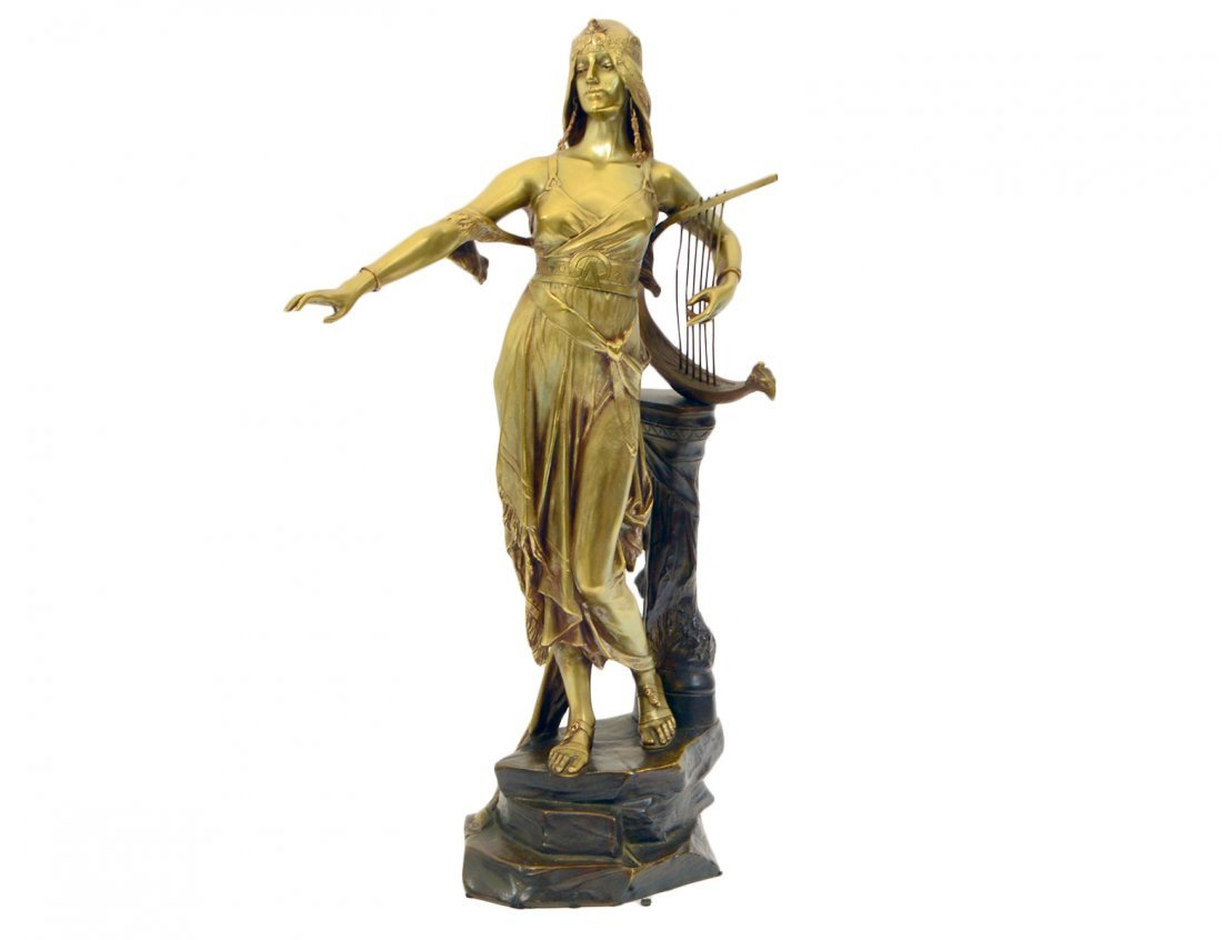 GILDED AND PATINATED BRONZE FIGURE OF SALOME