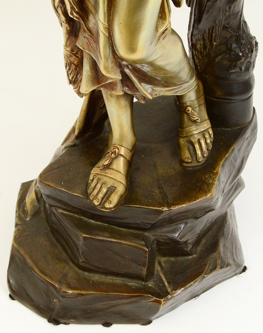 GILDED AND PATINATED BRONZE FIGURE OF SALOME - 3