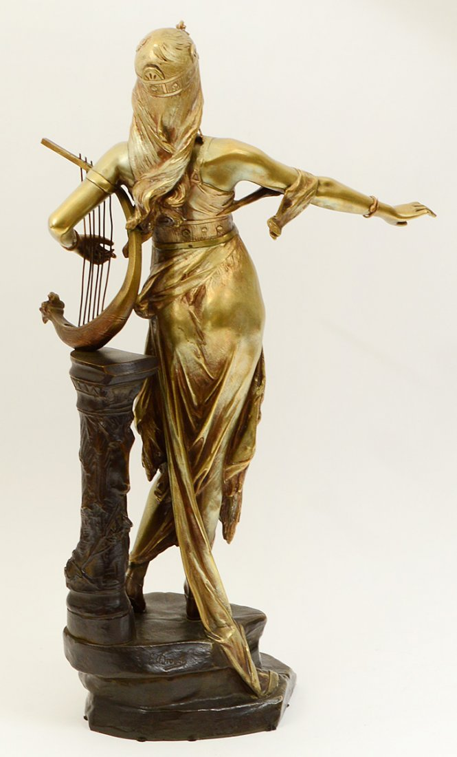 GILDED AND PATINATED BRONZE FIGURE OF SALOME - 5