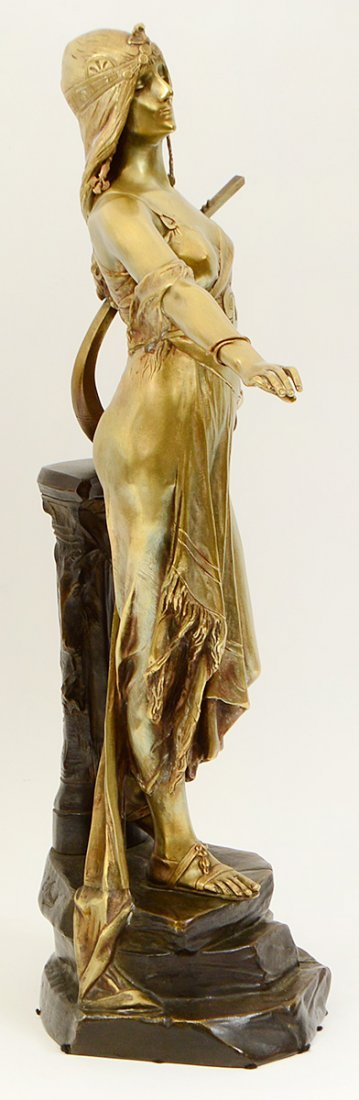GILDED AND PATINATED BRONZE FIGURE OF SALOME - 7