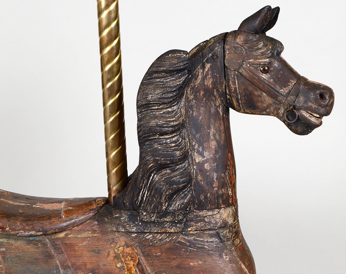 AMERICAN ARMITAGE HERSCHELL CARVED WOOD CAROUSEL HORSE - 2