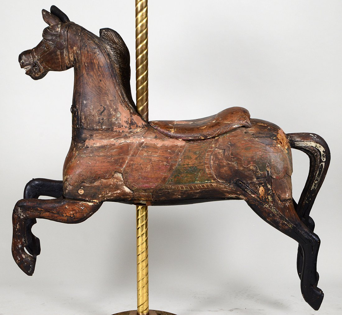 AMERICAN ARMITAGE HERSCHELL CARVED WOOD CAROUSEL HORSE - 7