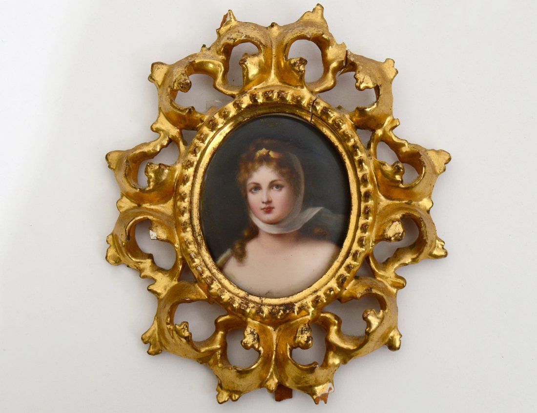 VIENNA STYLE PORTRAIT MINIATURE ON PORCELAIN