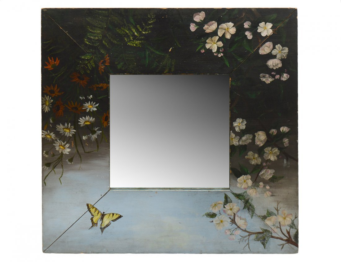 PAINTED SQUARE MIRROR