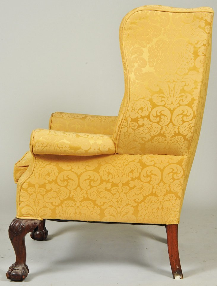 TWO GEORGE III STYLE MAHOGANY WING CHAIRS - 10