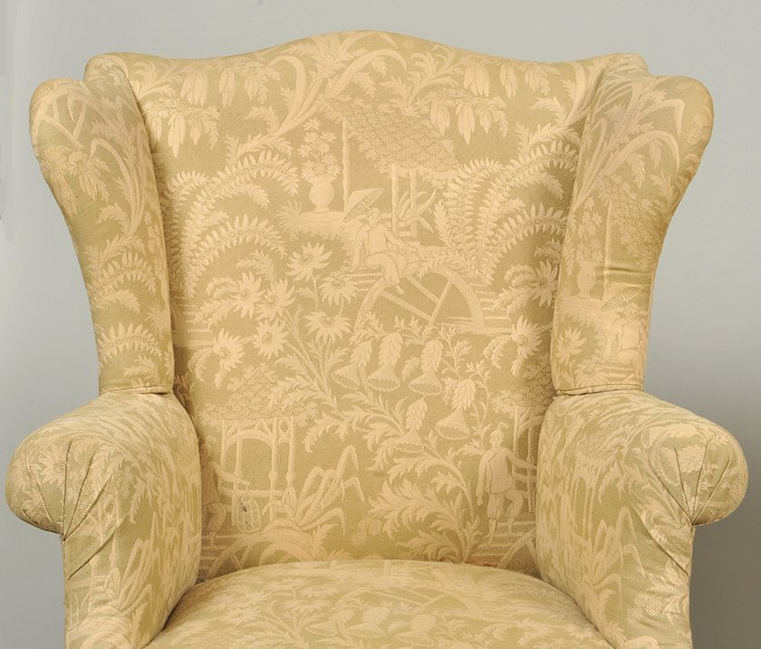TWO GEORGE III STYLE MAHOGANY WING CHAIRS - 4