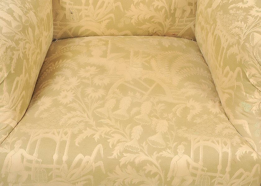 TWO GEORGE III STYLE MAHOGANY WING CHAIRS - 5