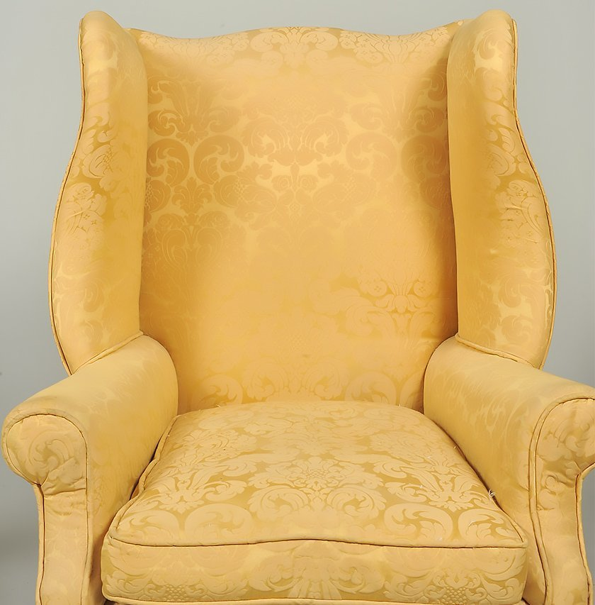 TWO GEORGE III STYLE MAHOGANY WING CHAIRS - 8