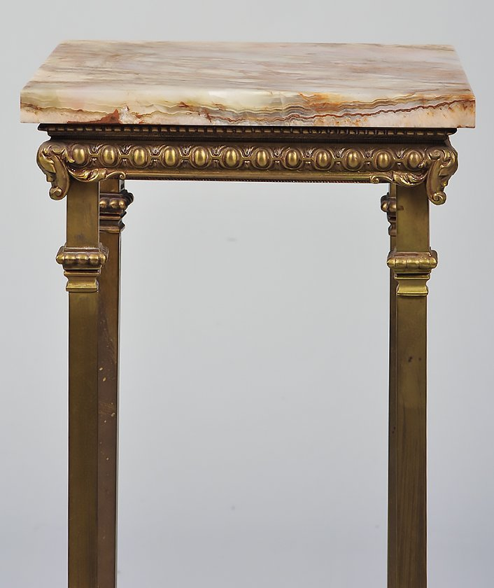 ONYX AND GILT BRASS PEDESTAL - 3
