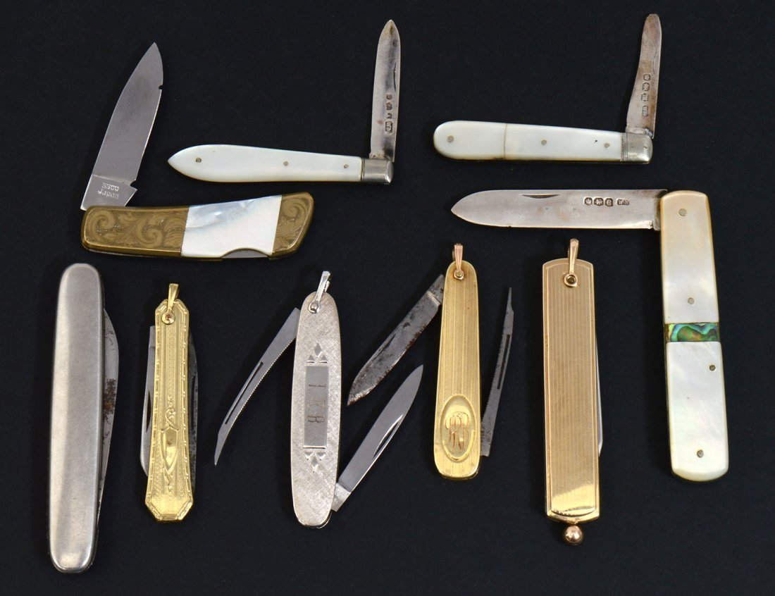 GROUP OF NINE POCKET KNIVES