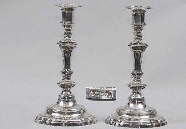 277: Pair Fine Antique Silver Candlesticks