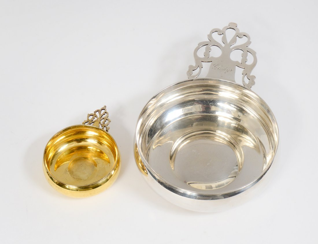 TWO TIFFANY & CO. STERLING SILVER PORRINGERS