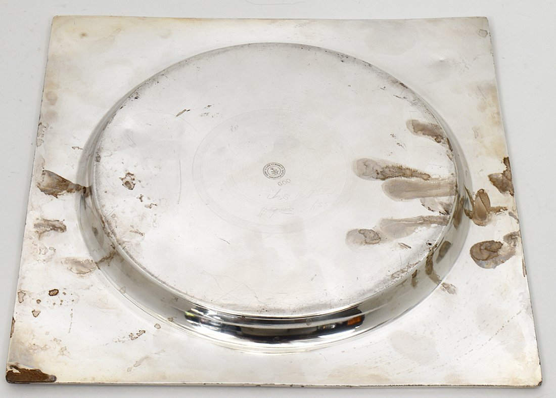 AESTHETIC MOVEMENT SILVER PLATED TRAY - 5