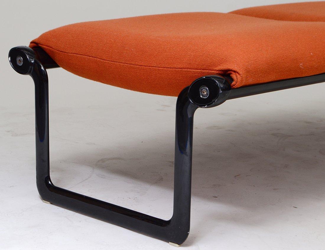 KNOLL EBONIZED CHROME WINDOW SEAT - 2