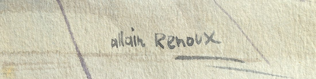 ALLAIN RENOUX (French. Born 1944) - 5