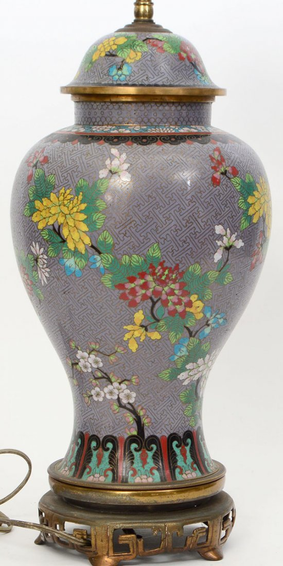 CLOISONNE TABLE LAMP - 4