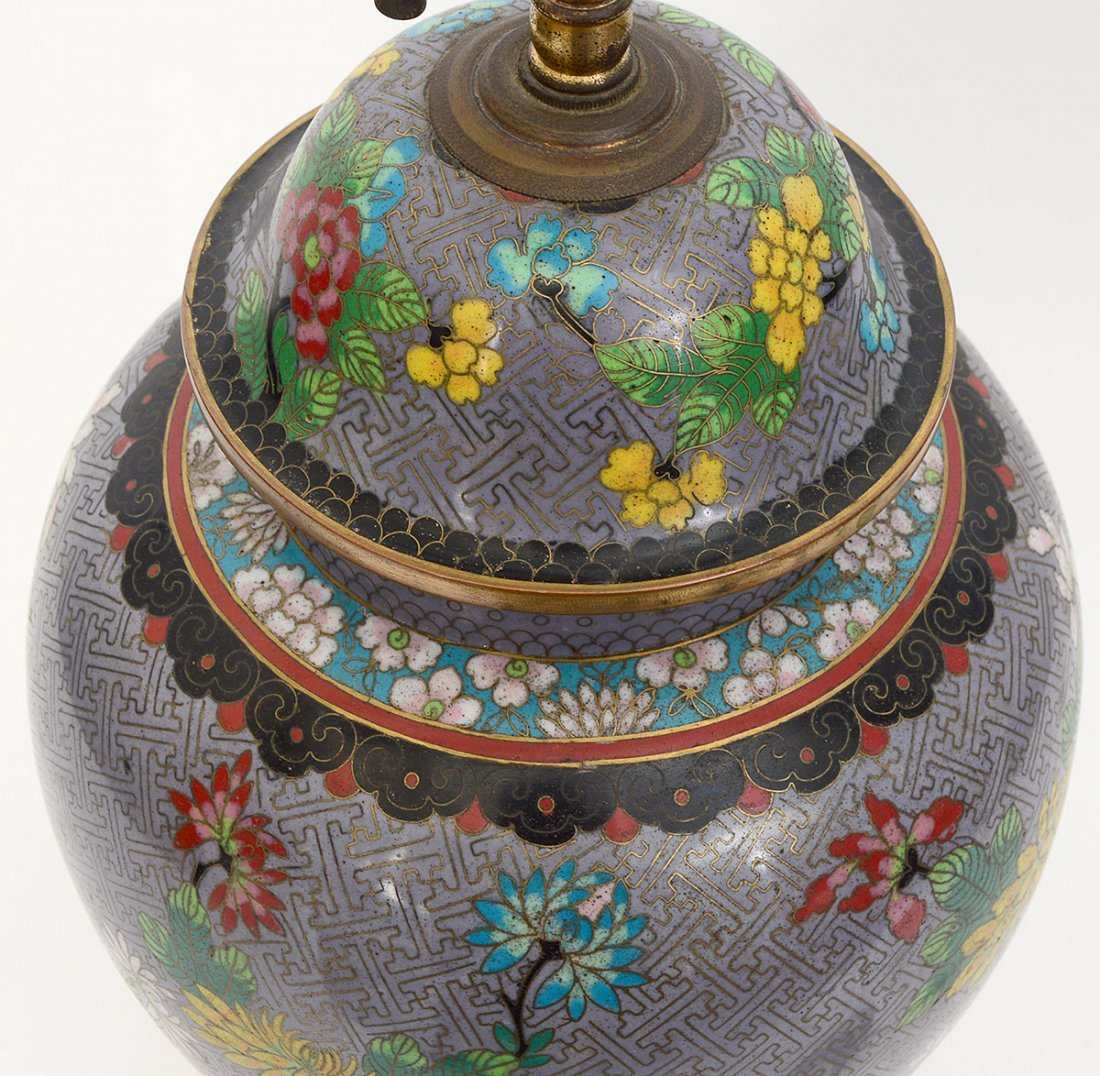 CLOISONNE TABLE LAMP - 5
