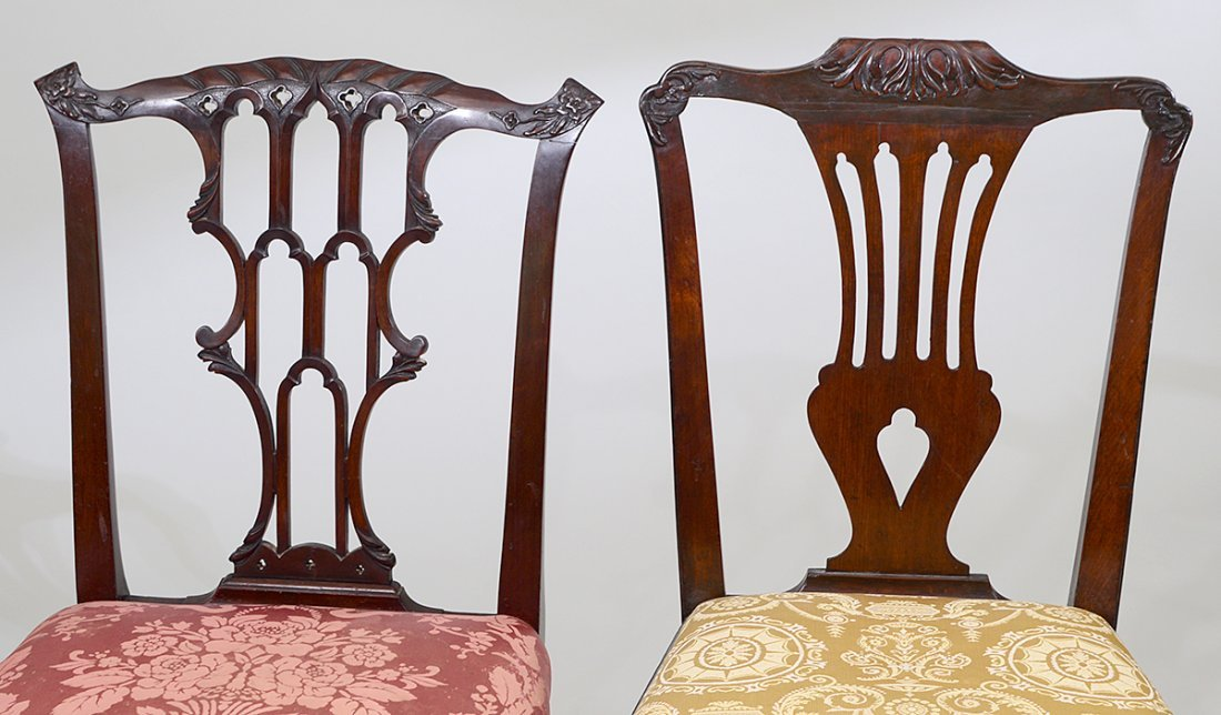 GEORGE III MAHOGANY SIDE CHAIR AND ANOTHER - 2