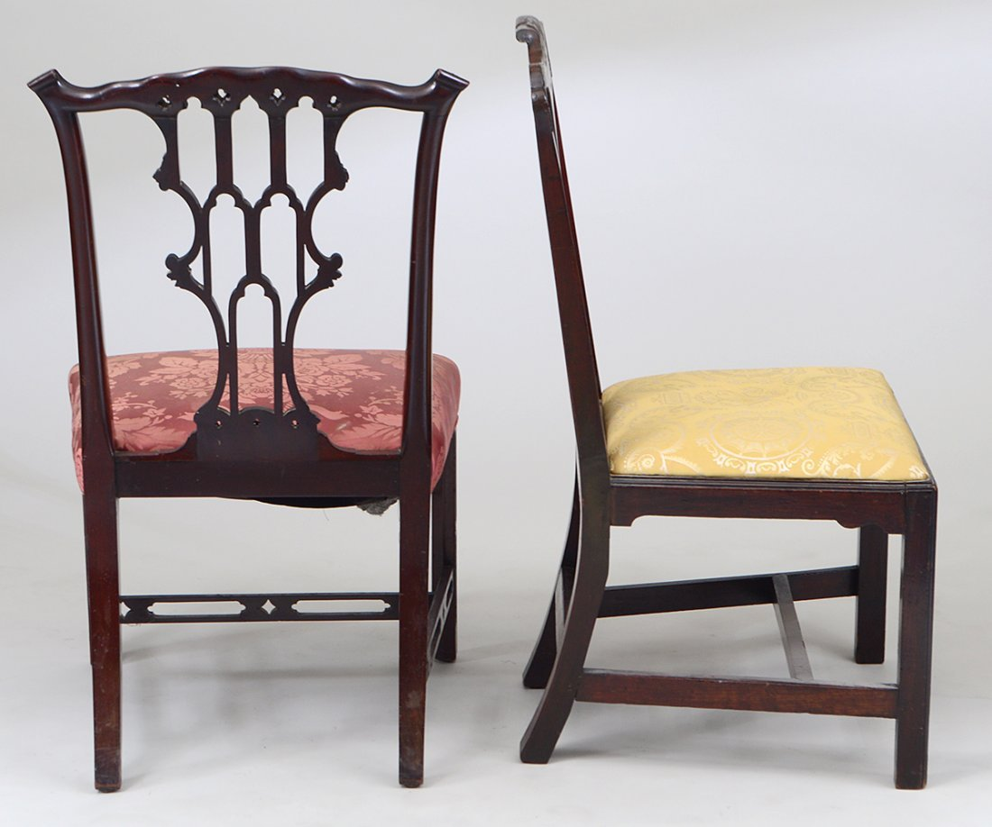 GEORGE III MAHOGANY SIDE CHAIR AND ANOTHER - 3
