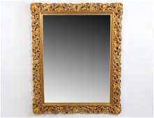 ROCOCO STYLE GILT WOOD AND COMPOSITION RECTANGULAR