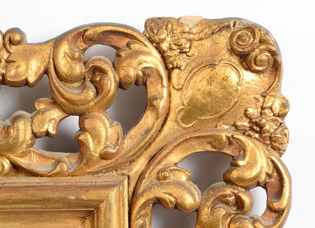ROCOCO STYLE GILT WOOD AND COMPOSITION RECTANGULAR - 2