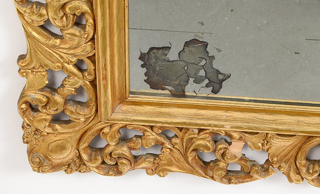 ROCOCO STYLE GILT WOOD AND COMPOSITION RECTANGULAR - 3