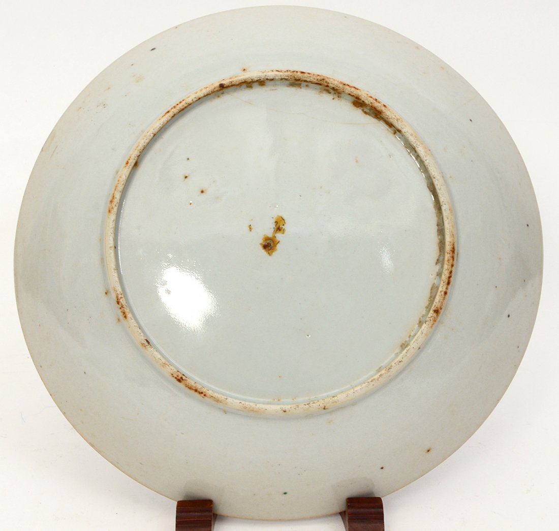 CHINESE FAMILLE NOIRE PORCELAIN PLATE - 3