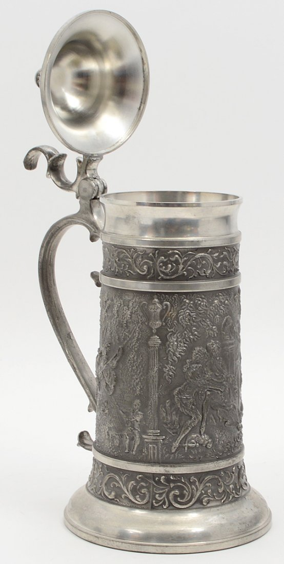 CONTENTIAL PEWTER ALLOY NINETEEN PIECE DRINKS SERVICE - 5