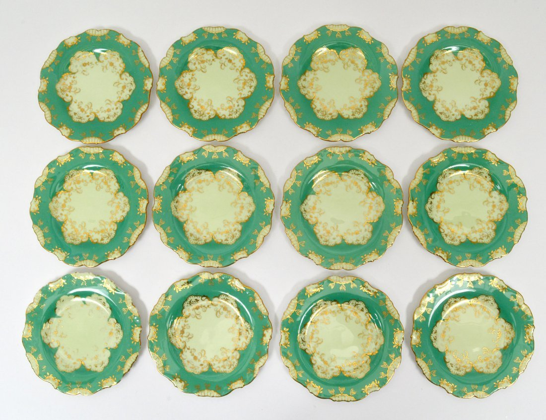 SET OF TWELVE CAULDON PORCELAIN BREAD & BUTTER PLATES