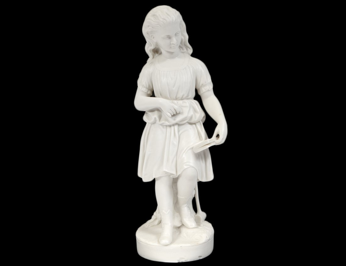 """COPELAND PARIAN WARE FIGURE OF """"YOUNG ENGLAND'S SISTER"""""""
