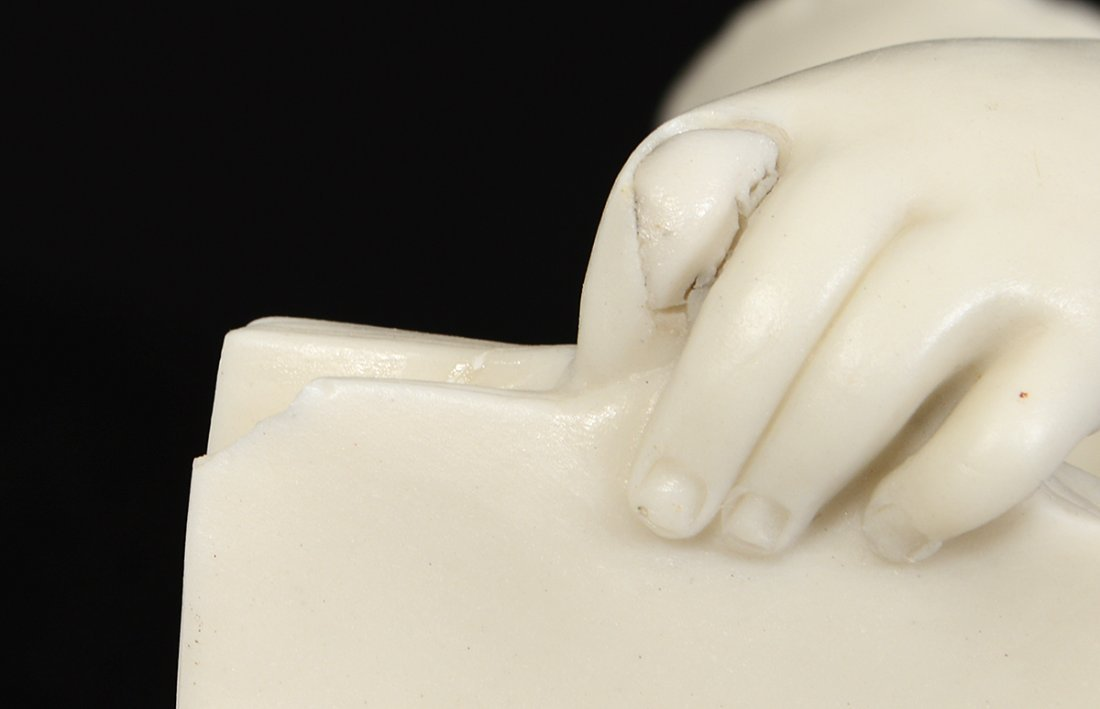 """COPELAND PARIAN WARE FIGURE OF """"YOUNG ENGLAND'S SISTER"""" - 4"""
