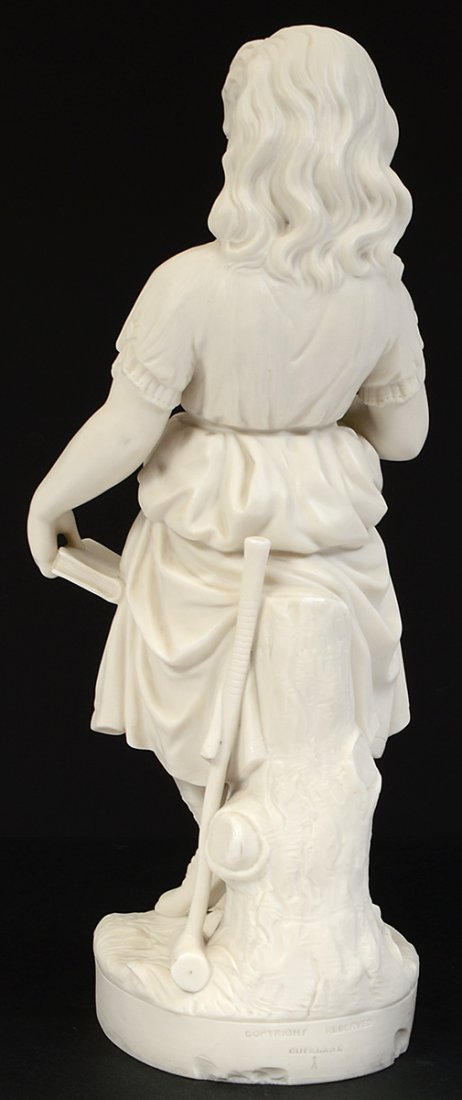 """COPELAND PARIAN WARE FIGURE OF """"YOUNG ENGLAND'S SISTER"""" - 5"""