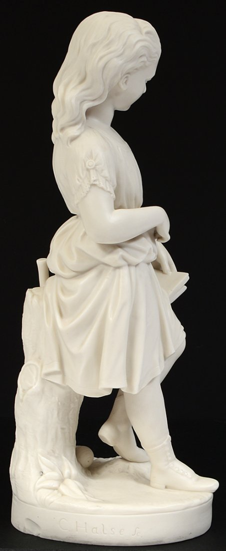 """COPELAND PARIAN WARE FIGURE OF """"YOUNG ENGLAND'S SISTER"""" - 7"""