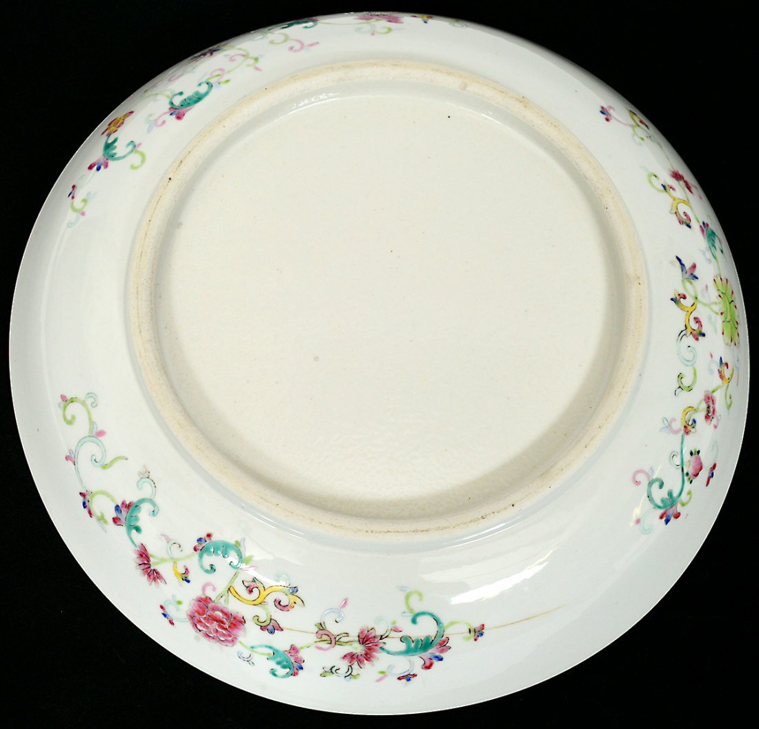 FINE YELLOW GROUND PORCELAIN CHARGER - 5