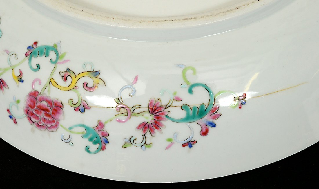 FINE YELLOW GROUND PORCELAIN CHARGER - 6