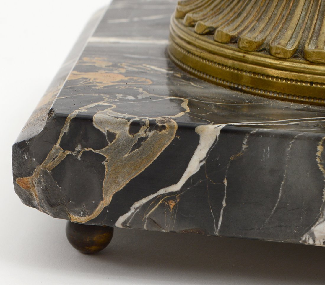 MARBLE AND BRONZE DESK STANDISH - 5
