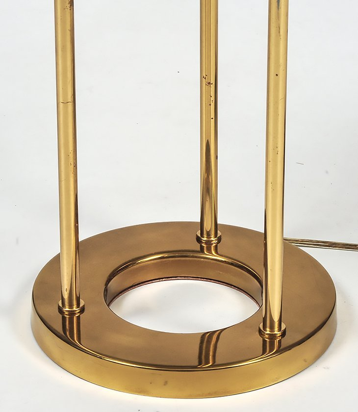 CONTEMPORARY BRASS AND GLASS TABLE LAMP - 3