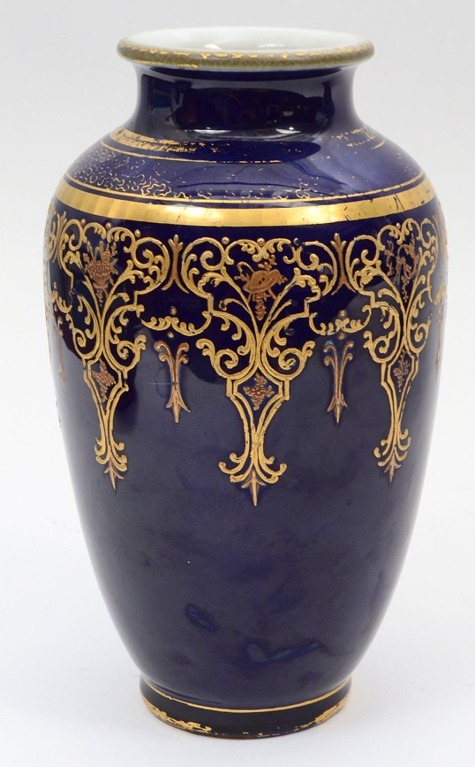 RUSSIAN PROVINCIAL PAINTED POTTERY VASE - 3
