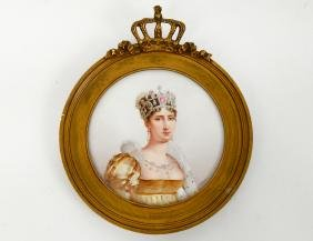 KPM PORCELAIN PLAQUE OF EMPRESS JOSEPHINE