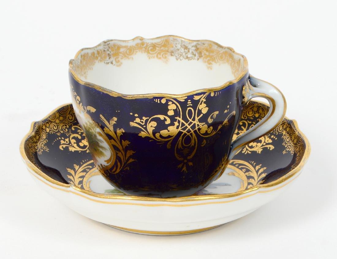 MEISSEN PORCELAIN DEMITASSE CUP & SAUCER