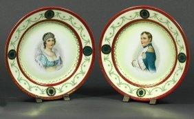 5: Pair Napoleon & Marie Louise Porcelain Plates