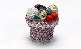 Jacob Petit French Porcelain Lidded Floral Box