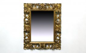 14: Gold Painted Finely Carved Rococo Style Frame